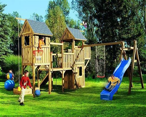 winnetoo spielturm kletterturm holzspielhaus schaukel rutsche t v gp727. Black Bedroom Furniture Sets. Home Design Ideas