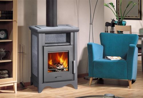 wamsler kaminofen pluto country mit specksteinverkleidung 6 5 kw 018471 ebay. Black Bedroom Furniture Sets. Home Design Ideas
