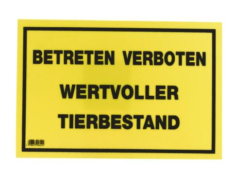 kerbl warnschild betreten verboten wertvoller tierbestand 29642 ebay. Black Bedroom Furniture Sets. Home Design Ideas