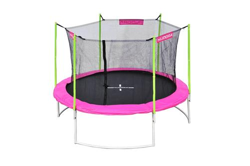 hudora trampolin mit sicherheitsnetz 305 cm girly trampolin pink 65540 ebay. Black Bedroom Furniture Sets. Home Design Ideas