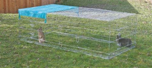 kerbl kaninchen freilaufgehege mit ausbruchsperre 230x115x70cm 82825 ebay. Black Bedroom Furniture Sets. Home Design Ideas