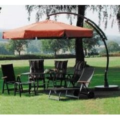 sun garden ampelschirm easy sun 350cm terracotta 586044 ebay. Black Bedroom Furniture Sets. Home Design Ideas