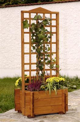 gaspo holz blumenkasten pflanzkasten rankgitter hofgarten 55x46x123 cm ebay. Black Bedroom Furniture Sets. Home Design Ideas