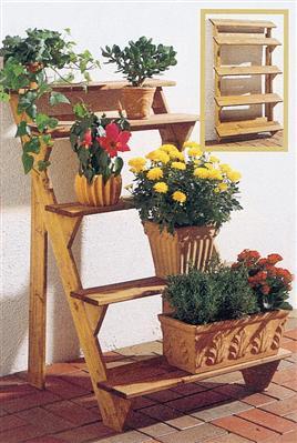 gaspo holz blumentreppe blumenregal blumenbank pfanztreppe 5 stufig ebay. Black Bedroom Furniture Sets. Home Design Ideas