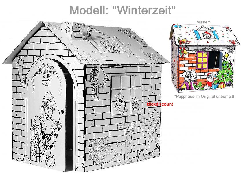 malhaus papphaus kartonhaus geburtstag geschenkidee kinder. Black Bedroom Furniture Sets. Home Design Ideas