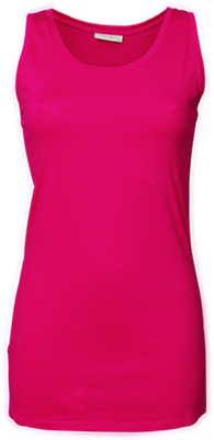 Tee Jays Ladies Stretch Tank Top Extra Long versch. Farben und Größen Hot Pink X