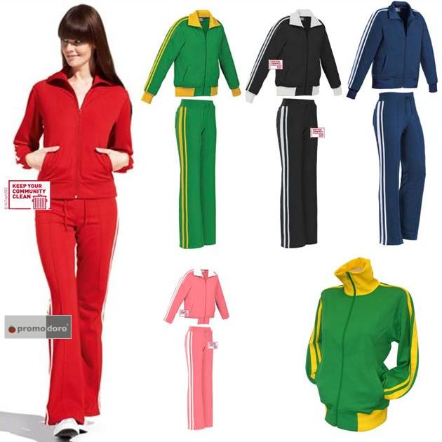 damen trainingsanzug tracksuit im retro style vintage look 3 modelle s m l neu ebay. Black Bedroom Furniture Sets. Home Design Ideas