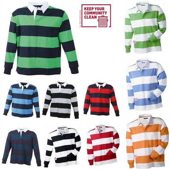 gestreiftes rugby langarm longsleeve polo shirt s xxl ebay. Black Bedroom Furniture Sets. Home Design Ideas