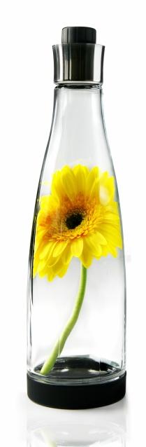 nuance glaskaraffe 1 liter mit boden ffnung aus glas ebay. Black Bedroom Furniture Sets. Home Design Ideas
