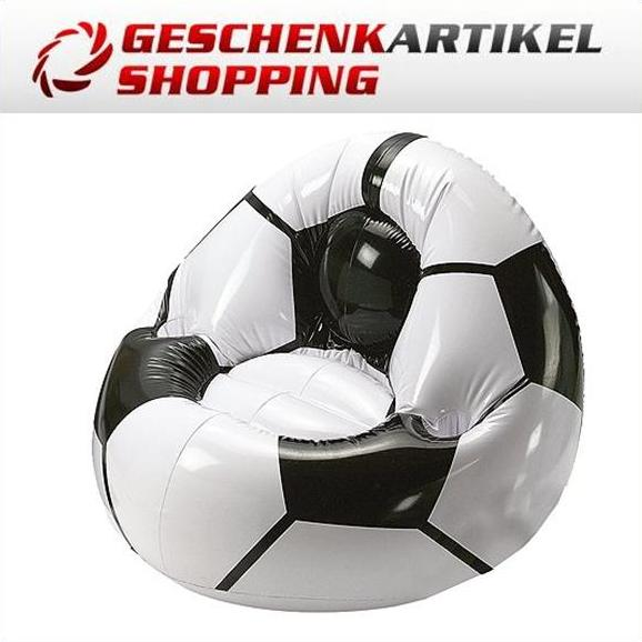aufblasbarer sessel sitzsack im fussball design. Black Bedroom Furniture Sets. Home Design Ideas