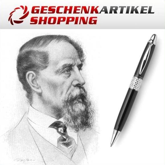 Charles Dickens Kugelschreiber mit Swarovski Elements