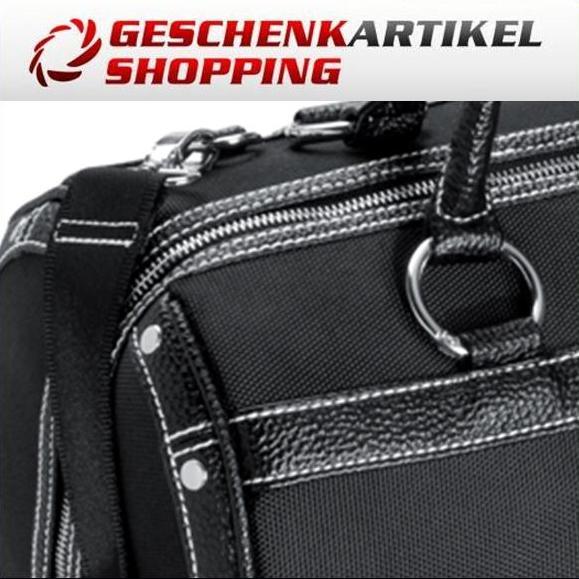 Reisetasche mit Trolleyfunktion schwarz von Ferraghini