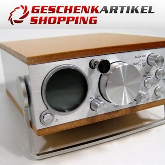 Mini Radio FLINTSHIRE im trendigen Holz-Metall Design