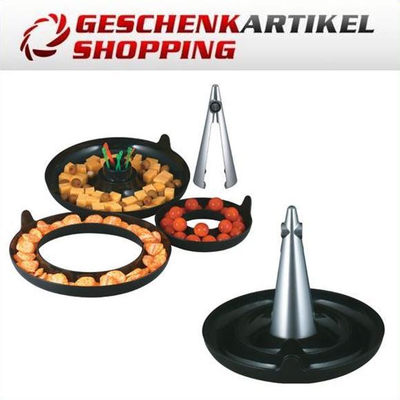 Nussknacker-Set Cheops mit 3 Auffang- u. Vorratsschalen