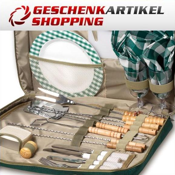 Grilltasche Picknicktasche 2 Personen mit Metallgrill