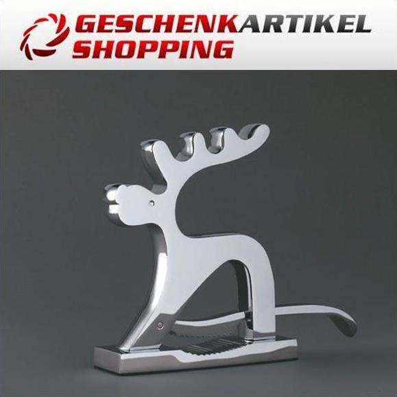 Edelstahl Nussknacker Rudolph the Red Nose Reindeer