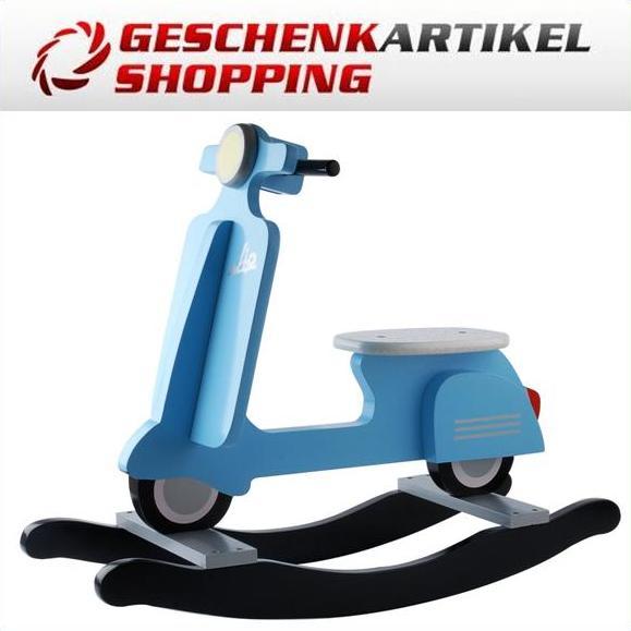 schaukel roller scooter aus holz blau. Black Bedroom Furniture Sets. Home Design Ideas
