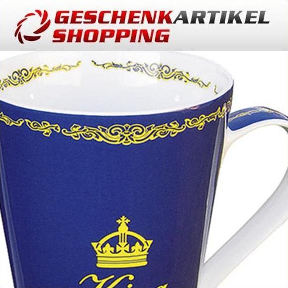 """Hochwertiger Porzellan-Becher """"KING"""" für den Herrn"""