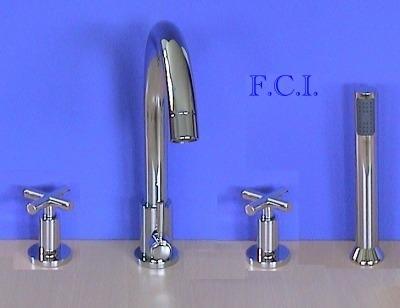 4 loch wannenarmatur wannenrand 03 2503c mit kreuzgriff armatur f r badewanne ebay. Black Bedroom Furniture Sets. Home Design Ideas