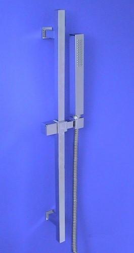 brausegarnitur eckig duschstange 68cm messing hz11 1328 ebay. Black Bedroom Furniture Sets. Home Design Ideas