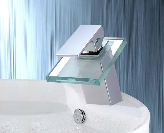 SENSATION-DESIGNER-GLAS-WASSERFALL-ARMATUR-MIT-STIL-EINHEBELMISCHER-MASSIV