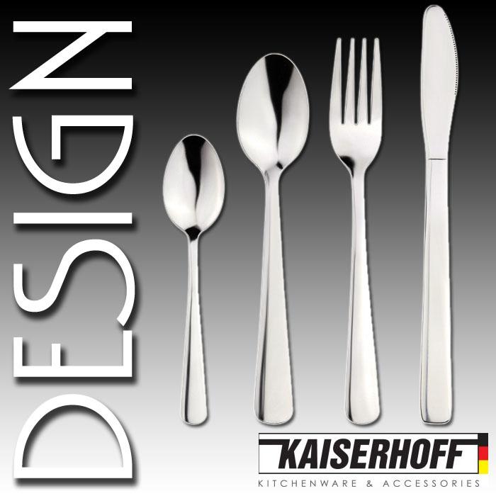 kaiserhoff edelstahl design besteck set 24 teilig essbesteck besteckset kh 9223 ebay. Black Bedroom Furniture Sets. Home Design Ideas