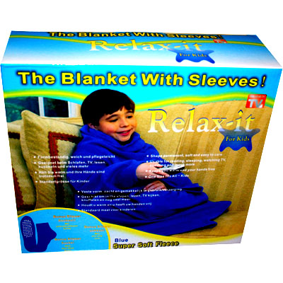 deluxe kinder kuscheldecke mit rmeln socken fleece decke kinderdecke blau ebay. Black Bedroom Furniture Sets. Home Design Ideas