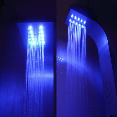eaxus led beleuchtetes duschpaneel aus aluminium ledpanel alu hac24. Black Bedroom Furniture Sets. Home Design Ideas