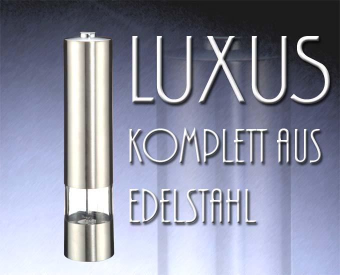design pur elektrische luxus salz und pfefferm hle eur 4 62 picclick at. Black Bedroom Furniture Sets. Home Design Ideas