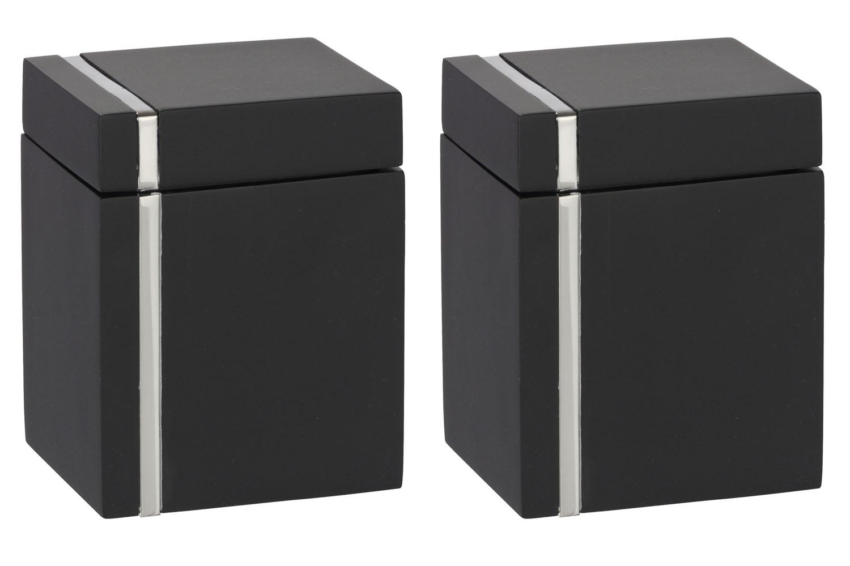 2er set universal aufbewahrungsbox mit deckel aufbewahrung bad schmuck box ebay. Black Bedroom Furniture Sets. Home Design Ideas