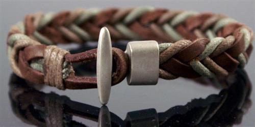Neu-Echt-Leder-Armband-Strass-Edelstahl-Armbaender-Damen-Herren-Schmuck-Mode