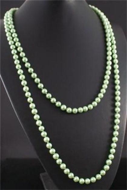 Neu-Damen-Mode-lange-Perlenkette-XXL-Kette-Perlen-Schmuck-Halskette-Wickelkette