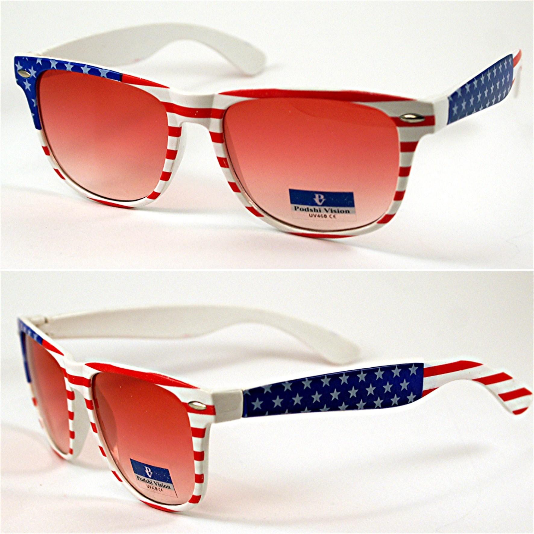 neu sonnenbrille usa england flagge motiv amerika uk brille damen herren mode ebay. Black Bedroom Furniture Sets. Home Design Ideas
