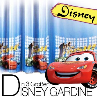 Disney cars 2 rennen kinder deko gardine vorhang f r for Cars kinderzimmer