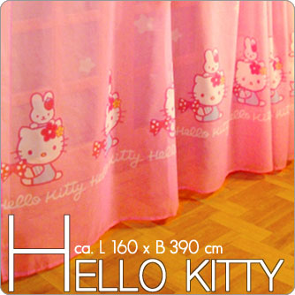 hello kitty kinder deko gardine vorhang f r kinderzimmer gardinen transparent ebay. Black Bedroom Furniture Sets. Home Design Ideas