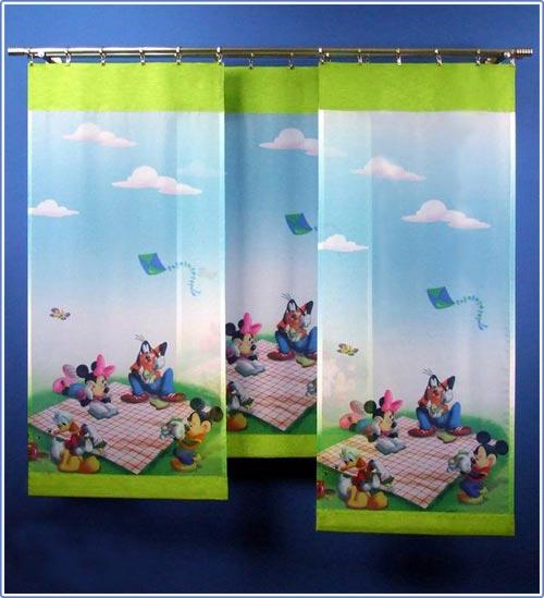 Disney mickey mouse kinder schiebegardine fl chenvorhang for Schiebegardine kinderzimmer