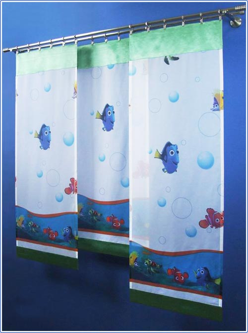 disney findet nemo fl chenvorhang gardine kinder baby ebay. Black Bedroom Furniture Sets. Home Design Ideas