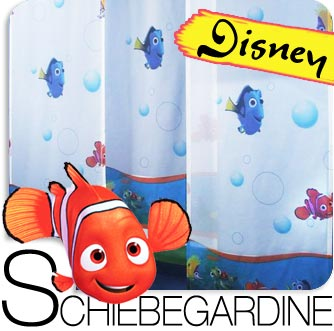 disney findet nemo schiebegardine fl chenvorhang gardine kinder baby neu ebay. Black Bedroom Furniture Sets. Home Design Ideas