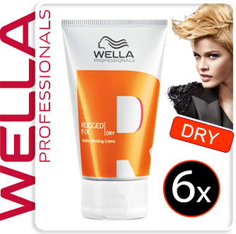 6x-Wella-Styling-RUGGED-FIX-Modelliercreme-matt-75ml