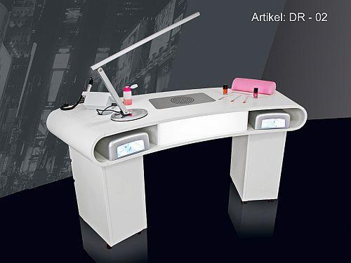 designer nagelstudio tisch dr 02 mit absaugung beleuchtung auf rollen ebay. Black Bedroom Furniture Sets. Home Design Ideas