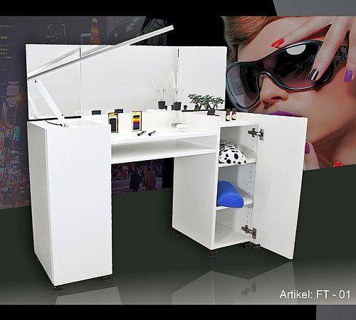 nail design schminktisch frisiertisch make up tisch ft 01 neu ebay. Black Bedroom Furniture Sets. Home Design Ideas