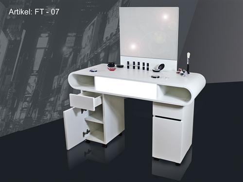 nail design schminktisch frisiertisch make up tisch ft 07 wei neu ebay. Black Bedroom Furniture Sets. Home Design Ideas
