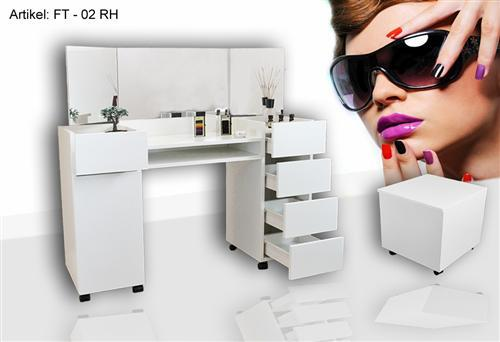 nail design schminktisch frisiertisch make up tisch ft 02wei neu ebay. Black Bedroom Furniture Sets. Home Design Ideas