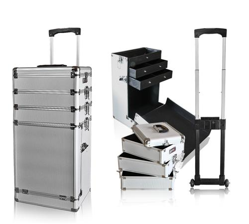 beautytrolley aluminium trolley koffer beauty line silber ebay. Black Bedroom Furniture Sets. Home Design Ideas