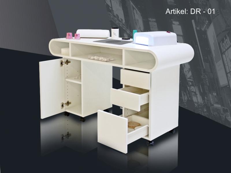 nageltisch manik rtisch auf rollen dr 01 l inkl. Black Bedroom Furniture Sets. Home Design Ideas