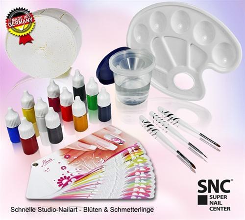 One-Stroke-Fingernagel-Set-mit-Marielle-Plueschke-Nailart-Buch-de-Luxe