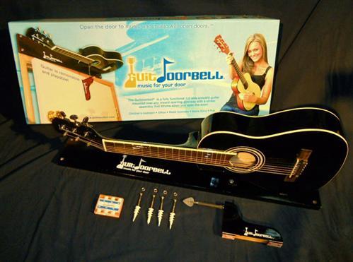 Guitdoorbell Gitarren Türglocke schwarz