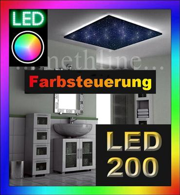 sternenhimmel led 200 color fiberset lichtfaser leuchte ebay. Black Bedroom Furniture Sets. Home Design Ideas
