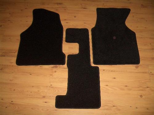 Fußmatten 3teilig dicker Velour Teppich schwarz VW T4