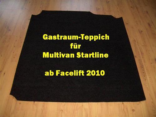 Gastraum Teppich Fußmatte für VW T5 Multivan Startline